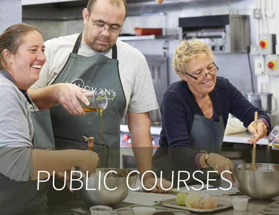 Attendees really enjoying our public cookery classes.