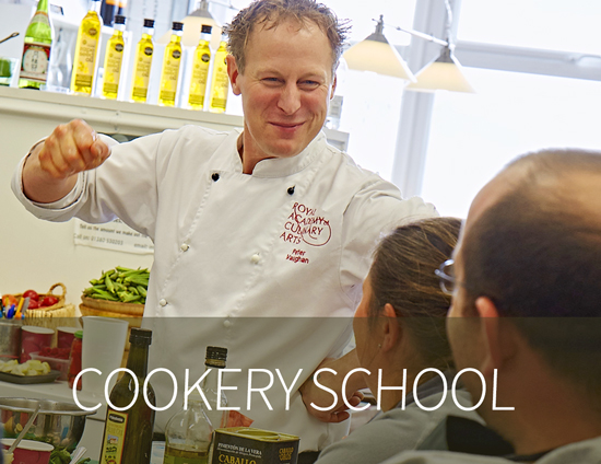Fun Course at Vaughan's Kitchen Cookery School, Devizes Wiltshire